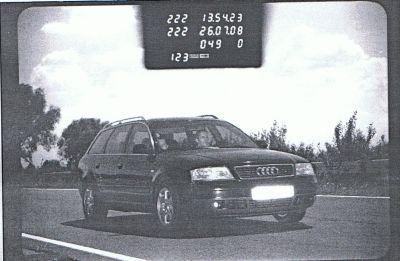 blitzerfoto Audi A6 Avant