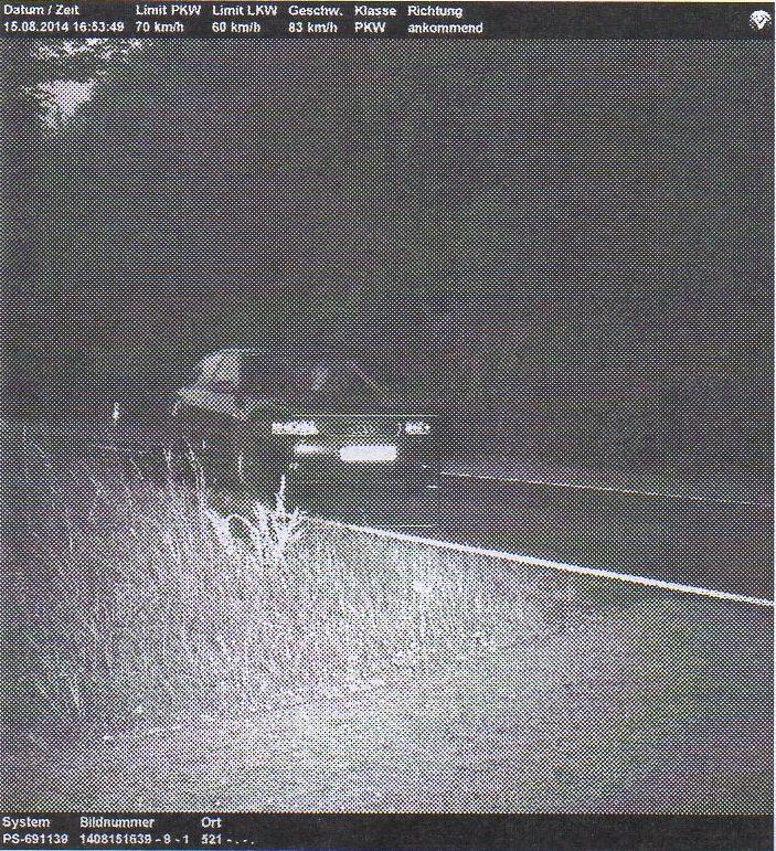 blitzerfoto Audi A3